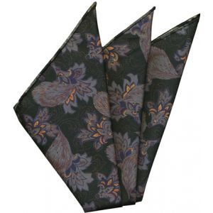 Sangdao Printed Thai Silk Pocket Square #14