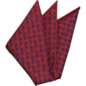 Sangdao Printed Thai Silk Pocket Square #21