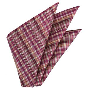 Plaid Thai Silk Pocket Square #43