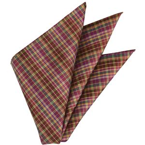 Plaid Thai Silk Pocket Square #44