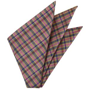 Plaid Thai Silk Pocket Square #45