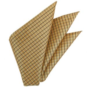 Plaid Thai Silk Pocket Square #47