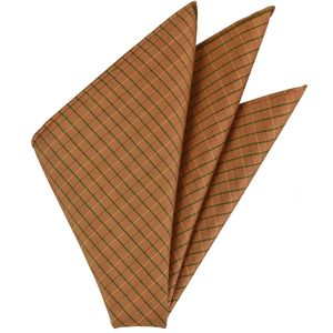 Plaid Thai Silk Pocket Square #55