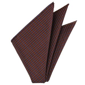 Plaid Thai Silk Pocket Square #62