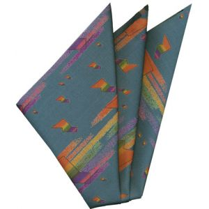 Printed Silk Pocket Square #28