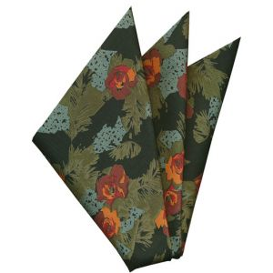 Printed Silk Pocket Square #31