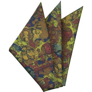 Printed Silk Pocket Square #33