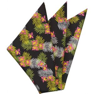 Printed Silk Pocket Square #35