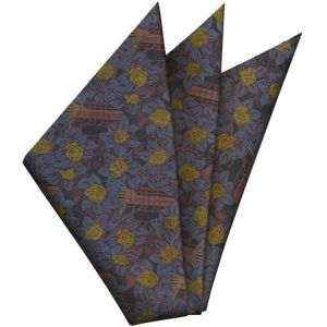 Printed Silk Pocket Square #37