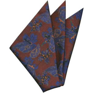 Printed Silk Pocket Square #38