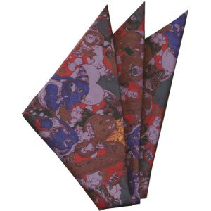 Printed Silk Pocket Square #39