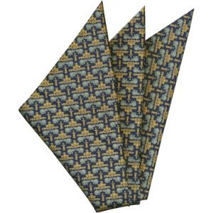 Printed Silk Pocket Square #42