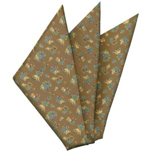 Printed Silk Pocket Square #44