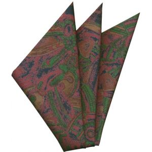 Thai Printed Silk Pocket Square #48