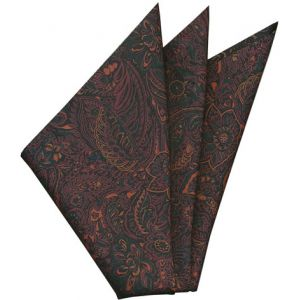 Thai Printed Silk Pocket Square #51