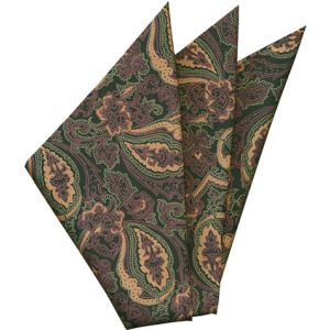 Thai Printed Silk Pocket Square #52