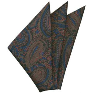 Thai Printed Silk Pocket Square #54