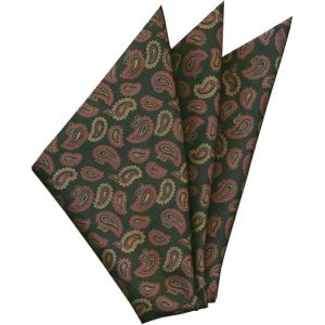 Thai Printed Silk Pocket Square #56