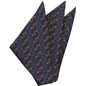 Thai Printed Silk Pocket Square #64