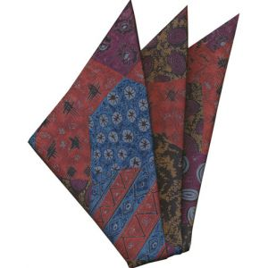 Thai Printed Silk Pocket Square #66