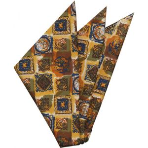 Thai Printed Silk Pocket Square #68