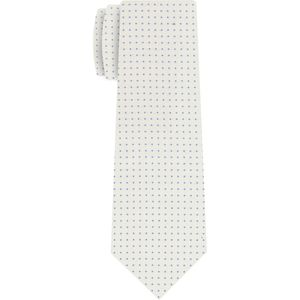 Sky Blue on Off-White Macclesfield Silk Tie #MCPDT-14