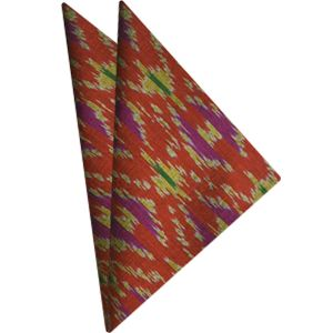 Mudmee Silk Pocket Square # 14
