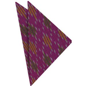 Mudmee Silk Pocket Square # 19