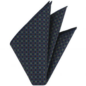 Macclesfield Printed Silk Pocket Square #10
