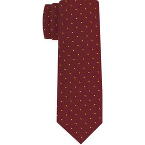 Yellow/Gold Dots on Maroon Pin-Dot Silk Tie #12