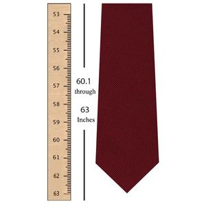 60.1 through 63 Inches ( 155 through 160 centimeters) Tie Length