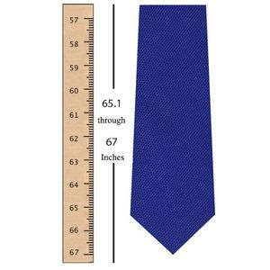 65.1 through 67 Inches (165.3 through 170.2 Centimeters)  Tie Length