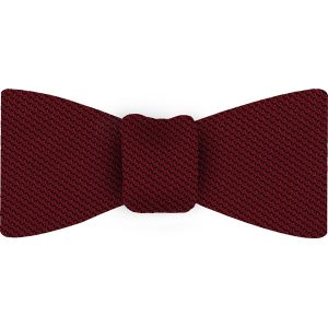 Red Piccola Grenadine Silk Bow Tie #1