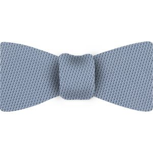 Sky Blue Piccola Grenadine Silk Bow Tie #10