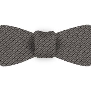 Gray Piccola Grenadine Silk Bow Tie #13