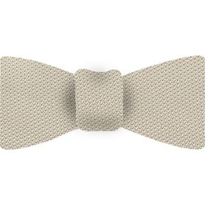 Dark Off White Piccola Grenadine Silk Bow Tie #GPBT-14