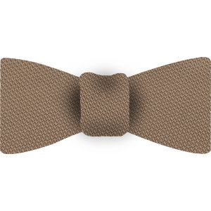 Dark Cream Piccola Grenadine Silk Bow Tie #GPBT-18