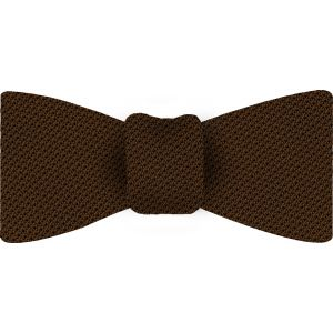 Chocolate Piccola Grenadine Silk Bow Tie #4