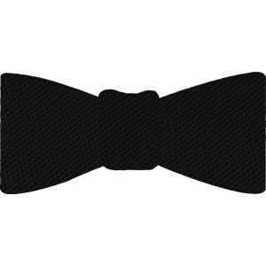 Black Piccola Grenadine Silk Bow Tie # 6