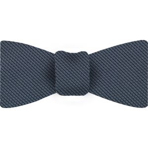 Slate Blue Piccola Grenadine Silk Bow Tie #9