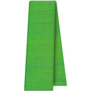 Lime Green Thai Rough Silk Tie Scarf #4