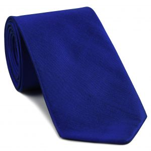 Dark Blue Shot Thai Silk Tie #12