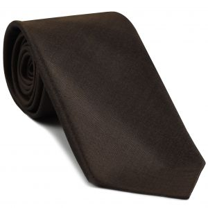Dark Chocolate Shot Thai Silk Tie #37