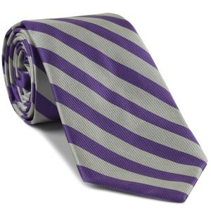 Kansas State Silk Tie #12 - Purple & White
