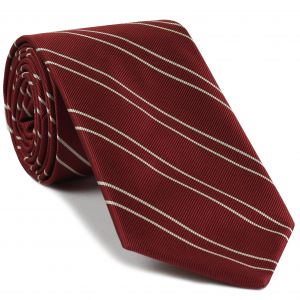 University of Oklahoma Silk Tie #17 - Crimson & Off-White