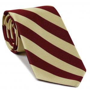 Indiana Silk Tie #23 - Crimson & Cream