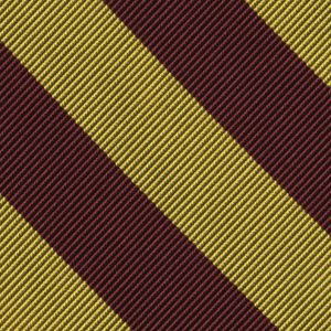 Loyola Silk Tie #14 - Maroon & Yellow Gold