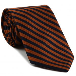 University of Florida Silke Tie #26 - Burnt Orange & Dark Navy Blue