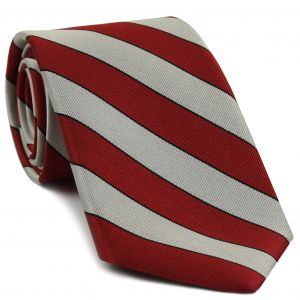 Denison Silk Tie #4 - Red, White & Black