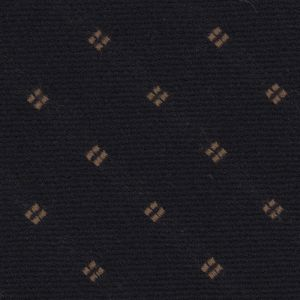 Brown on Midnight Blue Pattern Wool Tie # 3
